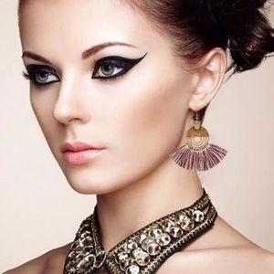 Boho Bohemian Tassel Trendy Fringe Earrings NWT